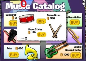 Club Penguin Drum and Sticks