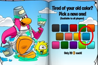 Club Penguin Aqua Color