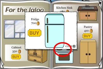 Club Penguin Fridge Cheat