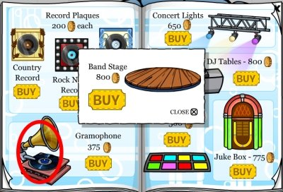 Club Penguin Band Stage Cheat