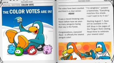 Club Penguin Color Vote