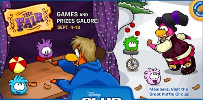 Club Penguin Log-In Homepage