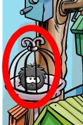 The third fiery object is in the Pet Shop