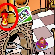 The fifth fiery object is in the Pizza Parlor