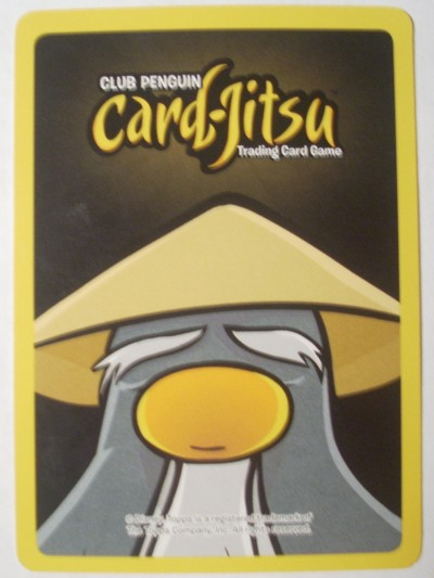 Front of the Card-Jitsu Golden Card