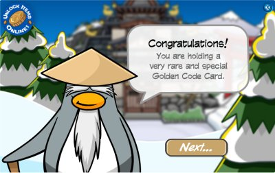 Sensei Congratulates on Golden Code Card