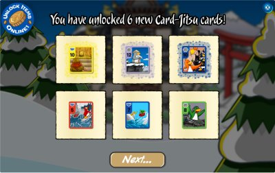 6 New Card-Jitsu Cards Unlocked