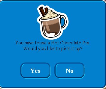 Hot Chocolate Pin Found