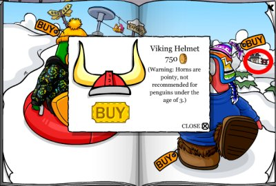 Red Viking Helmet