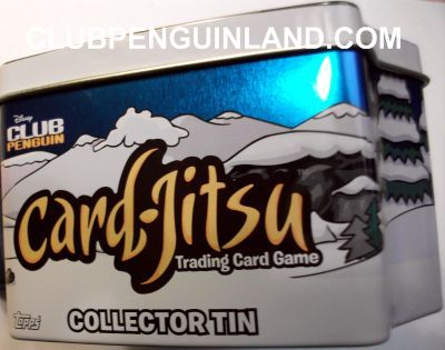 Club Penguin Card-Jitsu Collectors Tin Side