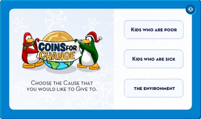 Coins for change causes