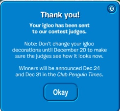 Igloo Contest Thank You