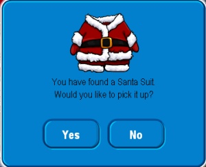 Pick up Santa Suit