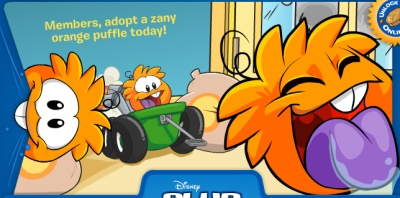 orange-puffle-log-in-page