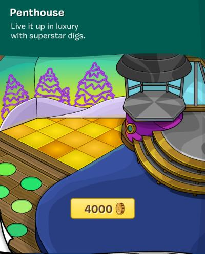 Image of the Club Penguin igloos penthouse for superstars