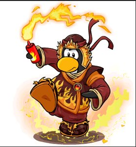 Image of the card-jitsu fire penguin