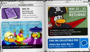 Image of Rockhopper returning to Club Penguin