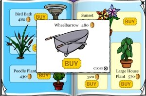 Image of Club Penguin Wheel Barrel