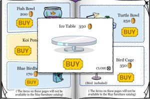 Image of Club Penguin Ice Table