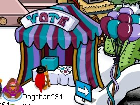 Club Penguin Voting Booth