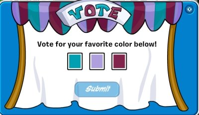 Club Penguin Voting Colors