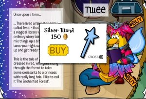 Club Penguin Fairy Fables Silver Wand