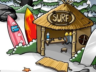 Image of Club Penguin Surfing