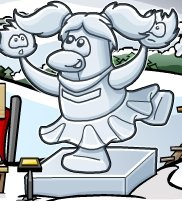 Image of ice sculpture on Club Penguin