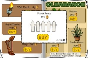 Club Penguin Picket Fence