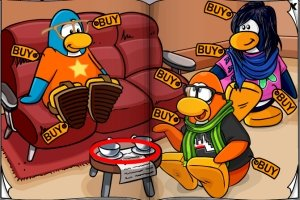 Club Penguin Black Graduation Cap