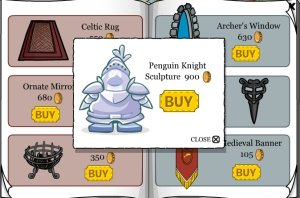 Image of Club Penguin Knight Sculpture