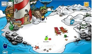 Image of Rockhopper's ship docked at beach