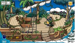 Image of Rockhopper's ship from the deck