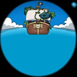 Rockhopper's ship from Club Penguin