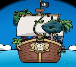 Image of Rockhopper's Ship From Club Penguin
