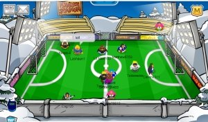 Soccer Pitch on Club Penguin