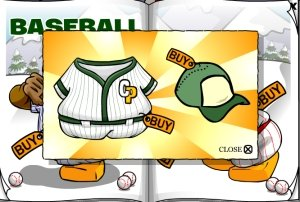Image of baseball uniform on Club Penguin