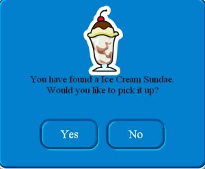 Image of the Ice Cream Sundae cheat on Club Penguin