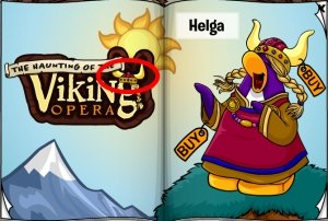 Image of the Red Viking Helmet on Club Penguin