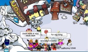 Image of Club Penguin Wig Party